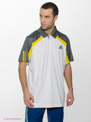 Футболка-поло BARRICADETRADPO Adidas. Цвет: белый, темно-серый, желтый