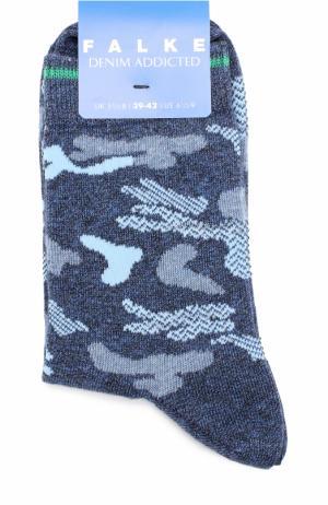 Носки с принтом Falke. Цвет: синий