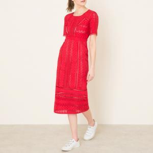 Платье GARETH BA&SH. Цвет: красный