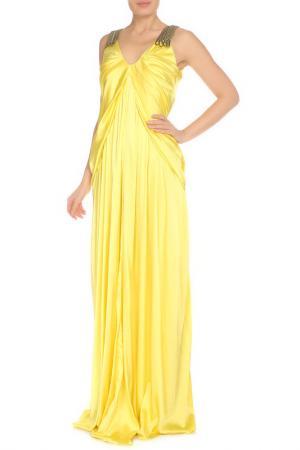 Платье GF FERRE. Цвет: желтый