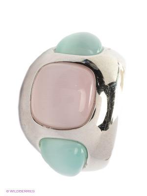 Кольцо BALEX. Цвет: зеленый, серебристый, розовый