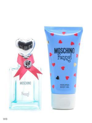 Moschino Funny Ж Набор Туалетная вода 25 мл + парфюмированный гель для тела 50 мл,. Цвет: прозрачный, голубой