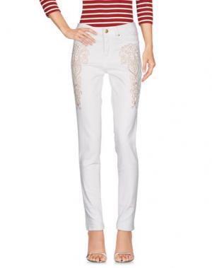 Джинсовые брюки CUPLÉ. Цвет: белый