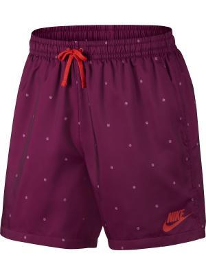 Шорты M NSW SHORT WVN SU FLOW Nike. Цвет: фиолетовый