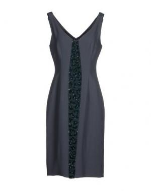Платье до колена IVAN MONTESI. Цвет: свинцово-серый
