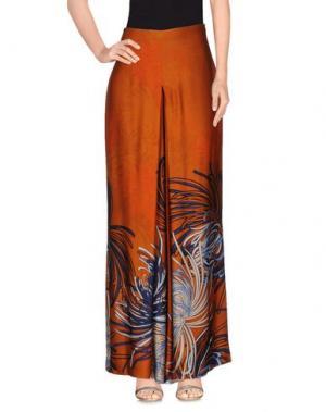 Длинная юбка DEVOTION. Цвет: ржаво-коричневый