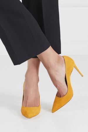 Замшевые туфли Simply Irresistible Pump Aquazzura. Цвет: желтый