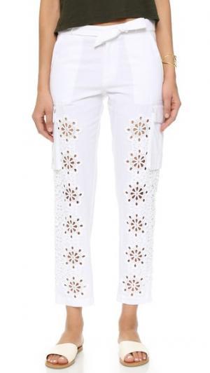 Кружевные брюки с вырезами Sea. Цвет: белый
