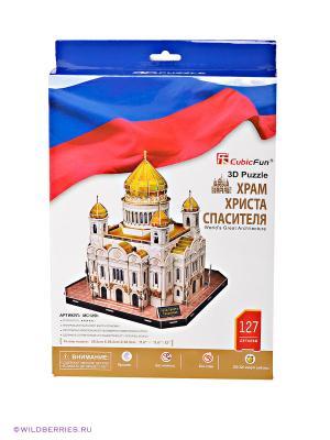 Набор для конструирования Храм Христа Спасителя CubicFun. Цвет: синий, красный