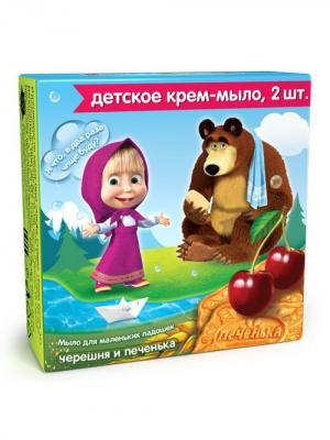 Крем-Мыло Черешня И Печенье 84 Г Маша медведь. Цвет: зеленый