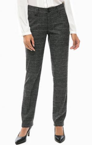 Серые трикотажные брюки с карманами s.Oliver. Цвет: серый