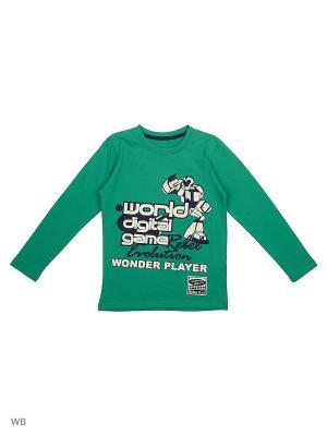 Футболка WonderKids. Цвет: зеленый