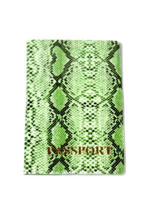 Обложка на паспорт Lola. Цвет: зеленый, черный