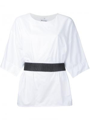 Блузка с ремнем на талии Maticevski. Цвет: белый