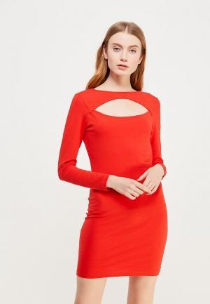 Платье Noisy May. Цвет: оранжевый