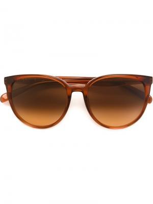 Солнцезащитные очки с круглой оправой Céline Eyewear. Цвет: жёлтый и оранжевый