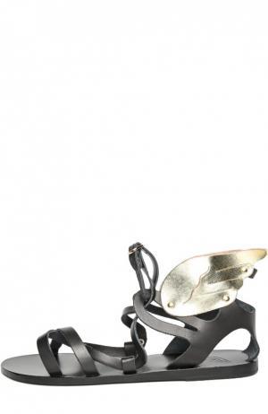 Кожаные сандалии Nephele Ancient Greek Sandals. Цвет: черный