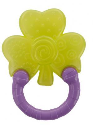 Мягкий прорезыватель для зубок Колечко, Цветок BRIGHT STARTS. Цвет: темно-фиолетовый, салатовый