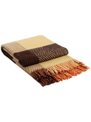 Плед Скиф, 170х210 VLADI. Цвет: коричневый, желтый, оранжевый, терракотовый