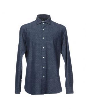 Джинсовая рубашка TRUZZI. Цвет: синий