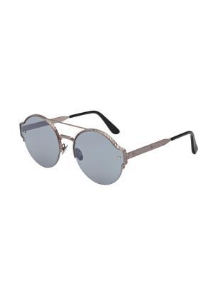Солнцезащитные очки Bottega Veneta. Цвет: серебристый