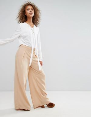 Oeuvre Широкие брюки. Цвет: оранжевый