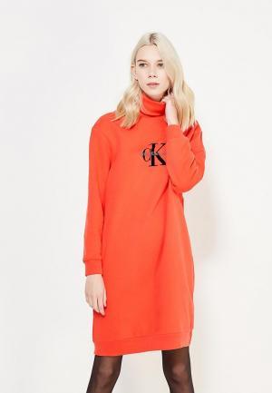 Платье Calvin Klein Jeans. Цвет: красный