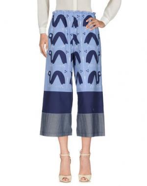 Повседневные брюки AVN. Цвет: лазурный