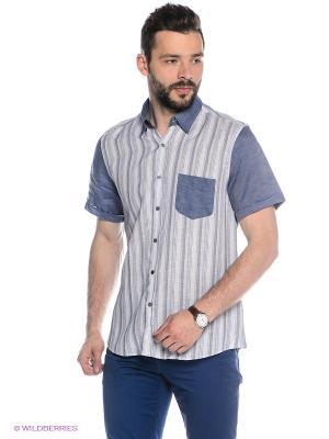 Рубашка MONDIGO. Цвет: индиго