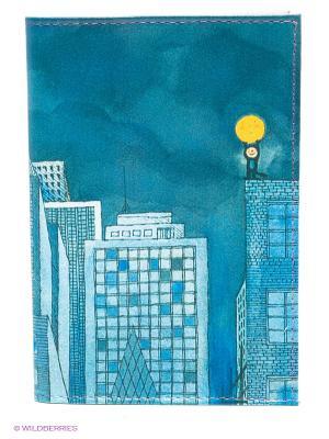 Обложка для автодокументов Мальчик и Луна Mitya Veselkov. Цвет: голубой