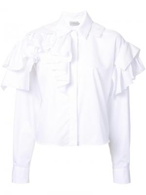 Рубашка Esta Preen By Thornton Bregazzi. Цвет: белый