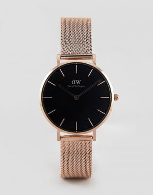 Daniel Wellington Подарочный набор с часами и браслетом цвета розового золота Wel. Цвет: золотой