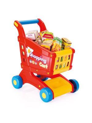 Игровой Набор Тележка с продуктами Dolu.. Цвет: синий, красный, желтый