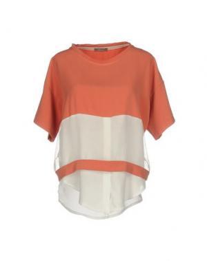 Блузка DIXIE. Цвет: лососево-розовый