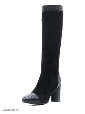 Сапоги MARIE COLLET. Цвет: черный, темно-серый