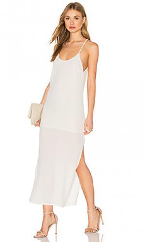 Платье миди tank BLQ BASIQ. Цвет: белый