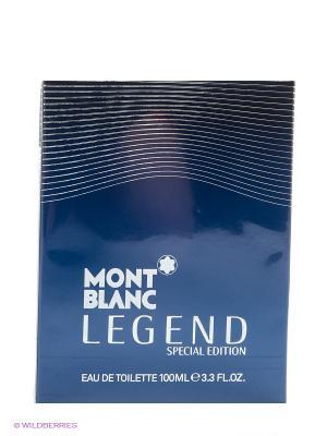Туалетная вода Montblanc legend. Цвет: синий