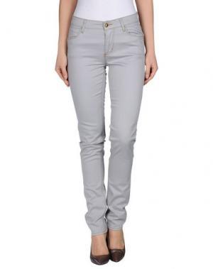 Джинсовые брюки MONKEE GENES. Цвет: светло-серый