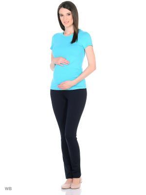Футболка для беременных 40 недель. Цвет: бирюзовый
