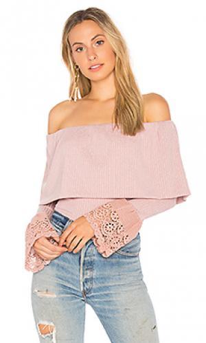 Топ со спущенными плечами valerie VAVA by Joy Han. Цвет: розовый