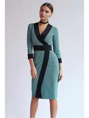 Платье из жаккарда с запахом Self Made