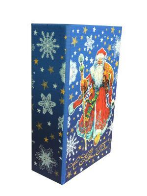 Декоративная шкатулка Дед Мороз в красном кафтане (17*11*5см, из МДФ) Magic Time. Цвет: синий
