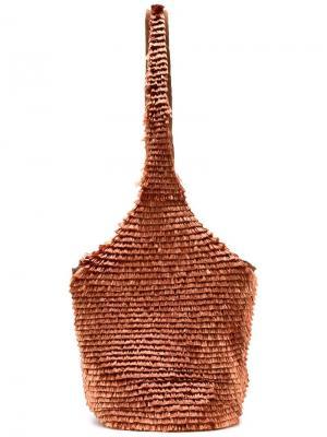 Пляжная сумка Pamela Anderson x Amélie Pichard. Цвет: жёлтый и оранжевый