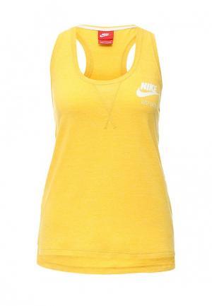 Майка Nike. Цвет: желтый