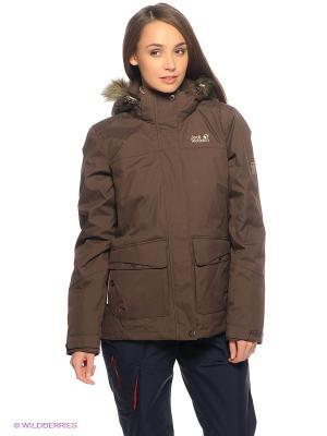 Куртка NOVA SCOTIA JACKET WOMEN Jack Wolfskin. Цвет: коричневый
