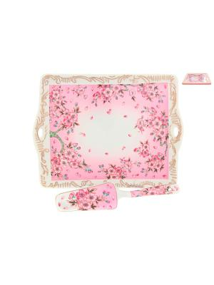 Поднос Сакура Elan Gallery. Цвет: розовый