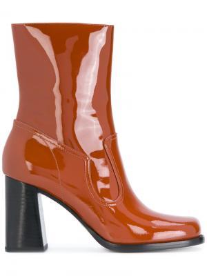 Лакированные ботинки по щиколотку Ross Marc Jacobs. Цвет: коричневый