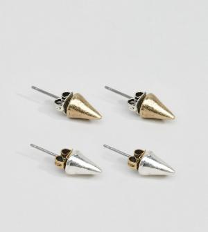 Classics 77 2 пары сережек-гвоздиков. Цвет: мульти