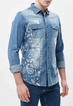 Рубашка джинсовая Desigual. Цвет: синий