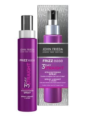 Выпрямляющий моделирующий спрей для волос длительного действия Frizz Ease 3 Day Straight, 100 мл John Frieda. Цвет: прозрачный